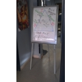 Flip Chart, Easel Metal Frame with Marker Ledge