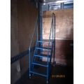 Rolling Stair Product Ladder 5 Step 7' Hand Rails