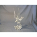 Crystal Sculpture Seagull riding a wave
