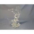 Crystal sculpture Depicting a Marlon or Salefish riding