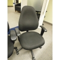 Dark Grey Rolling Executive Office Chair with Arms