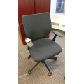 Keilhauer Simple Black Mesh Back Task Chair with Arms