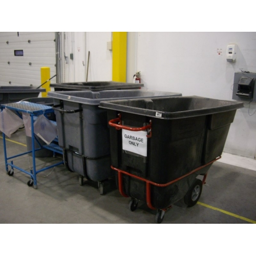 Large Recycling Garbage Tilt Truck Rolling Rubber Bins