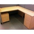 Light Maple L Suite Desk Box Box File