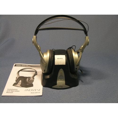 Advent 900 MHz Wireless Stereo Headphones AW714C