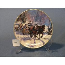 'Hay Sleigh Kids' Plate by Georgia Jarvis