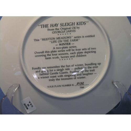 Hay Sleigh Kids Plate By Georgia Jarvis Allsold Ca