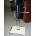 Stainless Adjustable Clothing Rack Retail Wheels Single