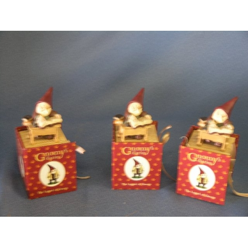 Lot Of 3 Gnomes Sitting At A Desk Reading Allsold Ca