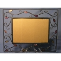 Black metal wall picture frame