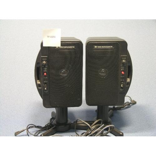 Pair Of Seiko Instruments Ssx 300 Speakers With Stands