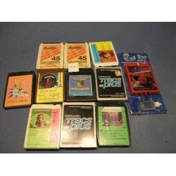 Lot of 11 Vintage 8-Track Cassette Tapes