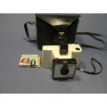 Vintage 1965 Polaroid Land Camera with Case & Bulbs