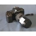 Nikon AF F-601 Quartz Date Film Camera w Tokina 70-210