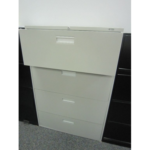 ProSource 4 Drawer Beige Lateral Filing Cabinet W Lock