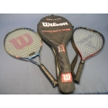 Lot of 2 Tennis Rackets /w holder