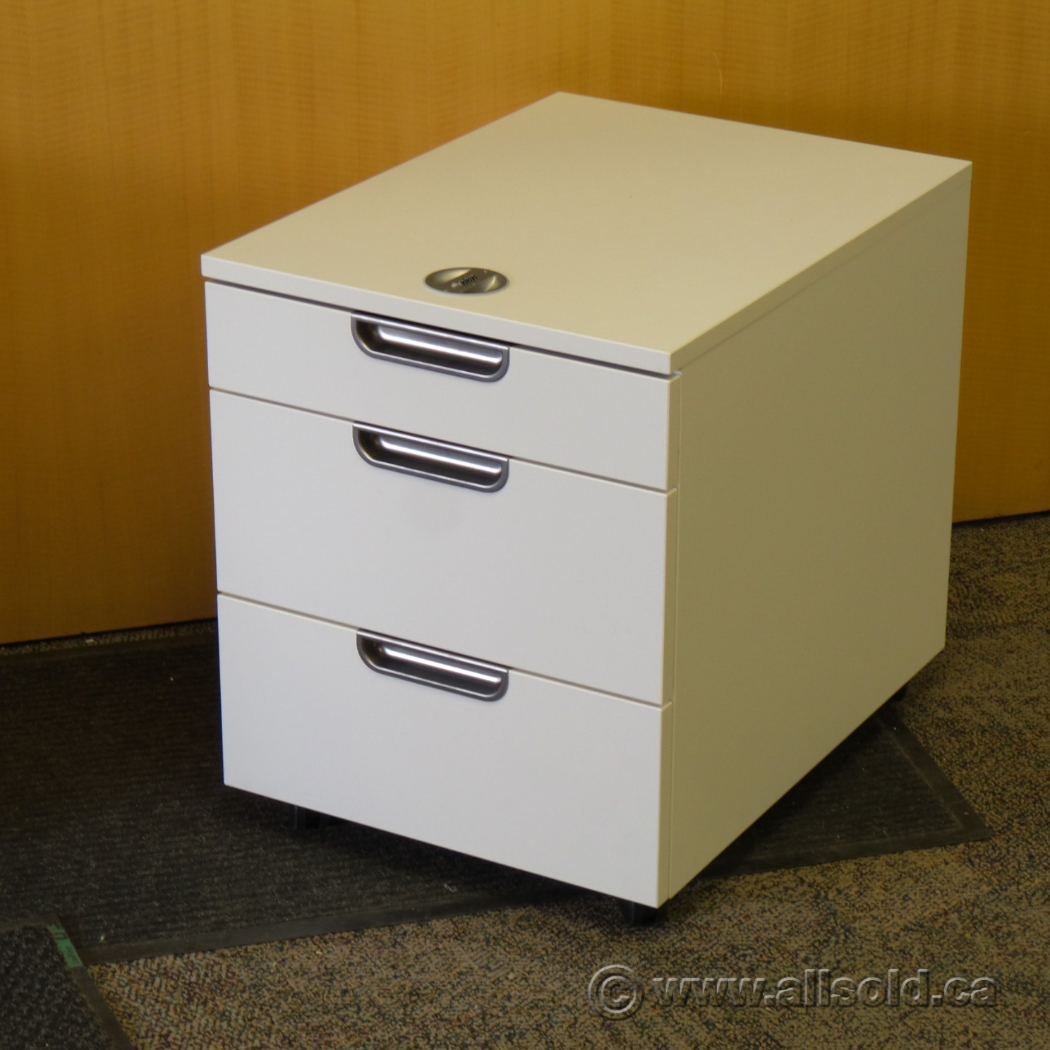 Image of: Ikea Galant White 3 Drawer Rolling Pedestal Allsold Ca Buy Sell Used Office Furniture Calgary