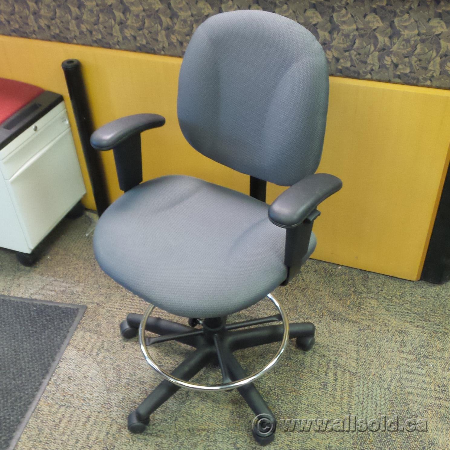 Amazing Grey Adjustable Drafting Chair Bar Stool 32 Seat Height Theyellowbook Wood Chair Design Ideas Theyellowbookinfo