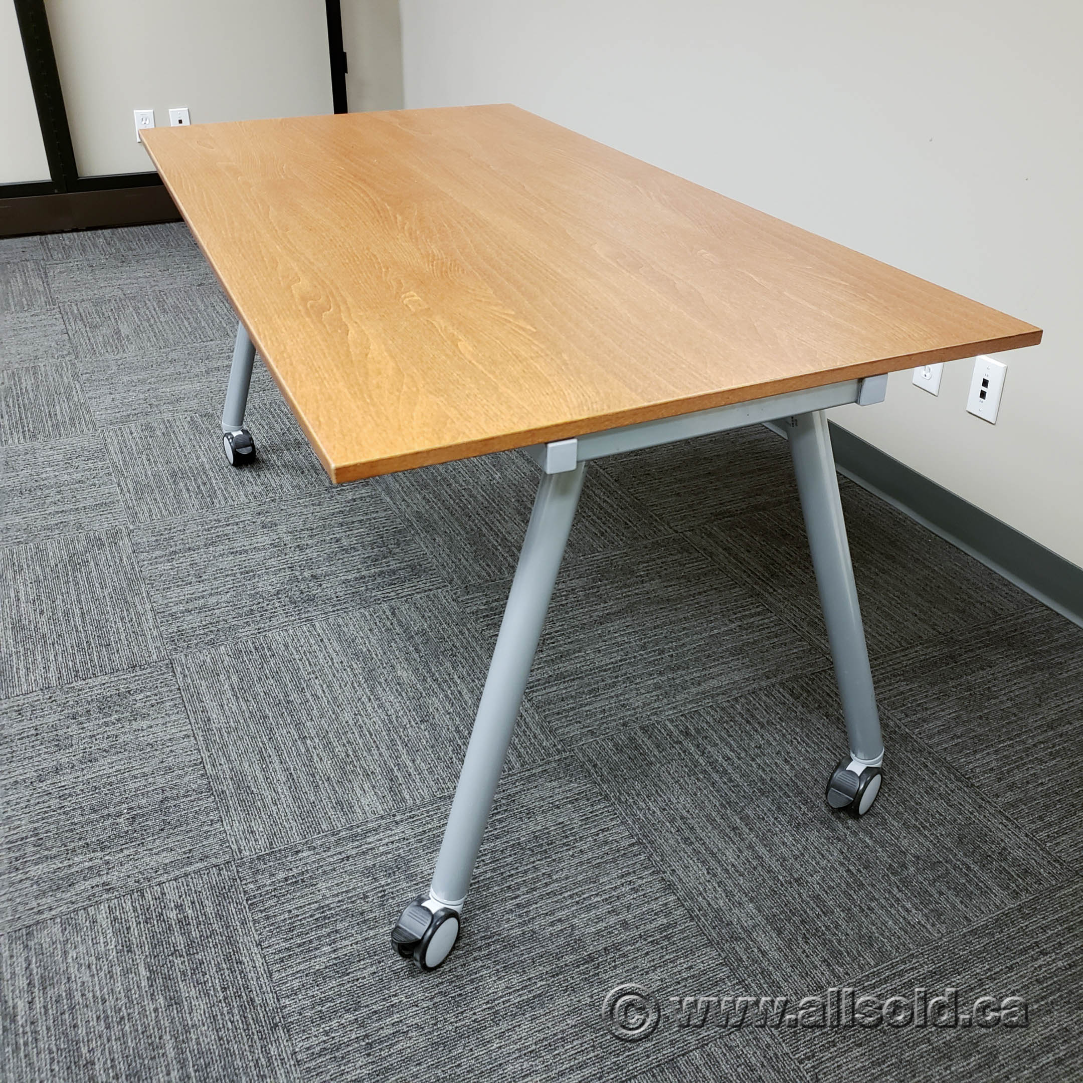Ikea Galant Autumn Maple Rolling Training Table Allsold Ca Buy Sell Used Office Furniture Calgary