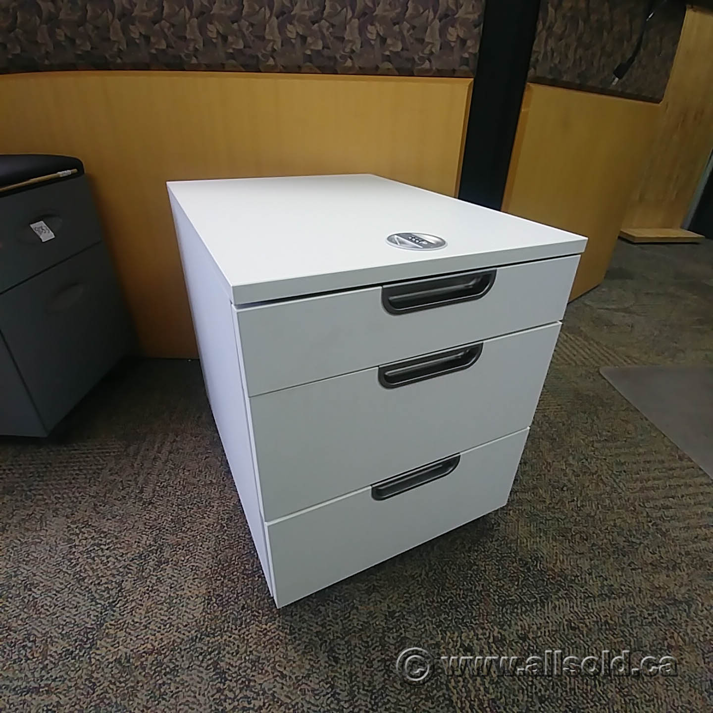 Ikea Galant White 3 Drawer Rolling Pedestal Allsold Ca Buy Sell Used Office Furniture Calgary