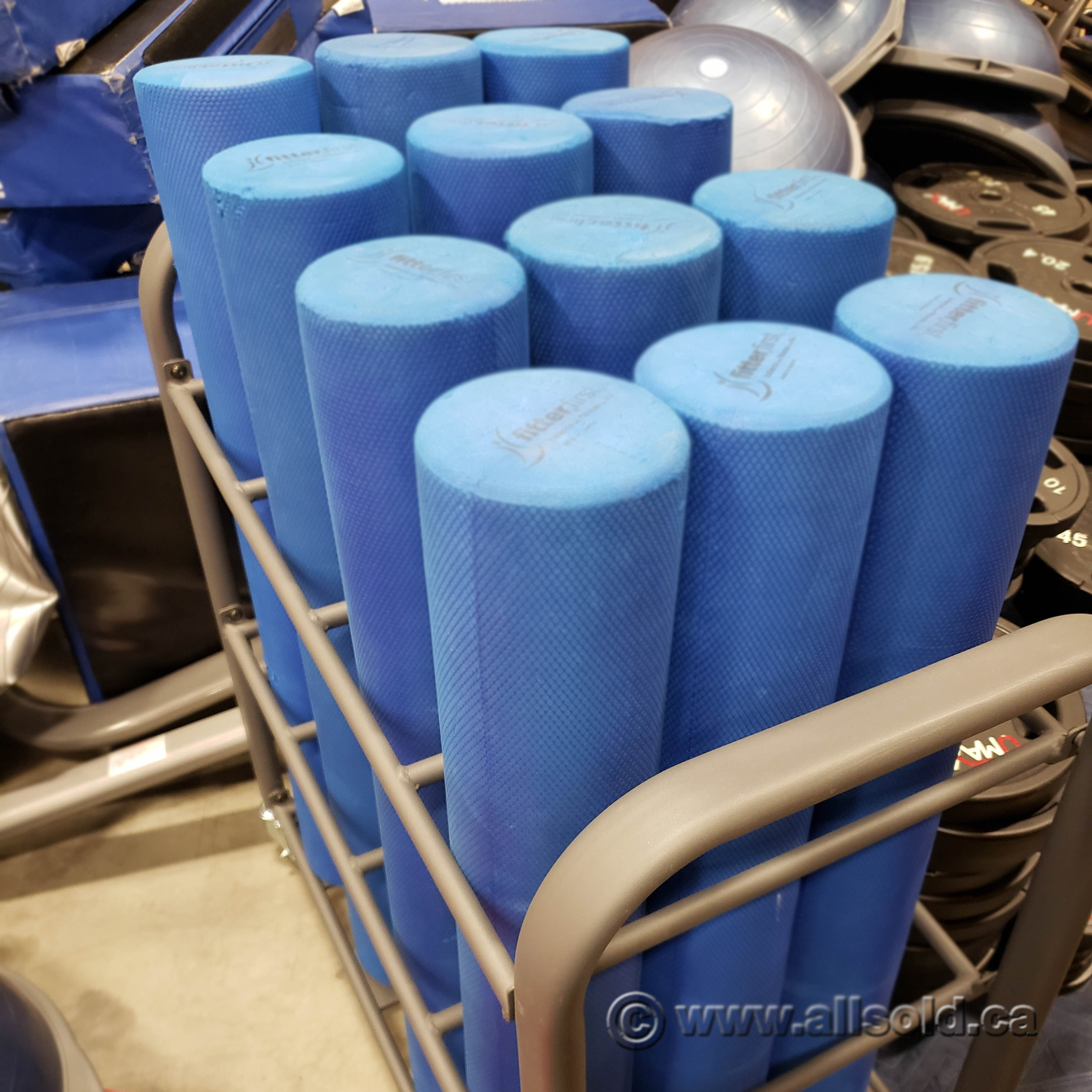 Fitterfirst Foam Roller Or Yoga Mat Storage Rack Allsold Ca Buy Sell Used Office Furniture Calgary