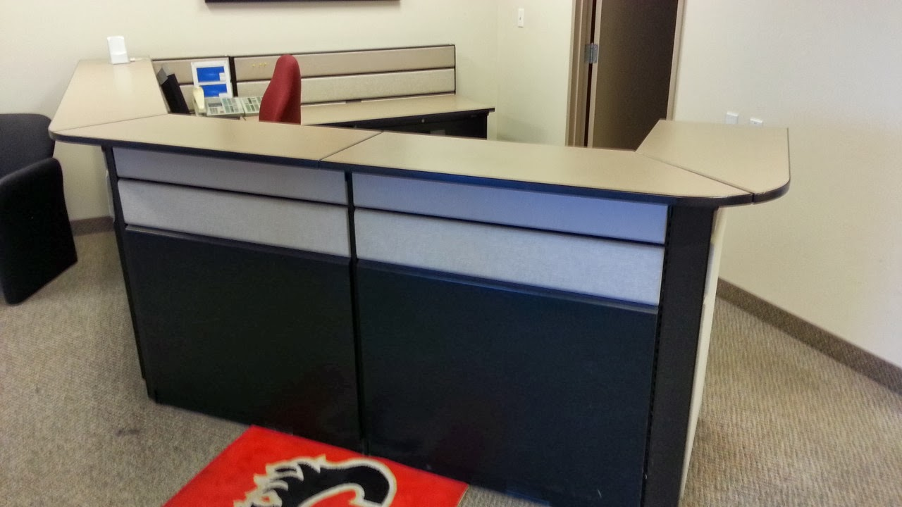 Teknion Reception Desk Suite System Allsold Ca Buy Sell Used