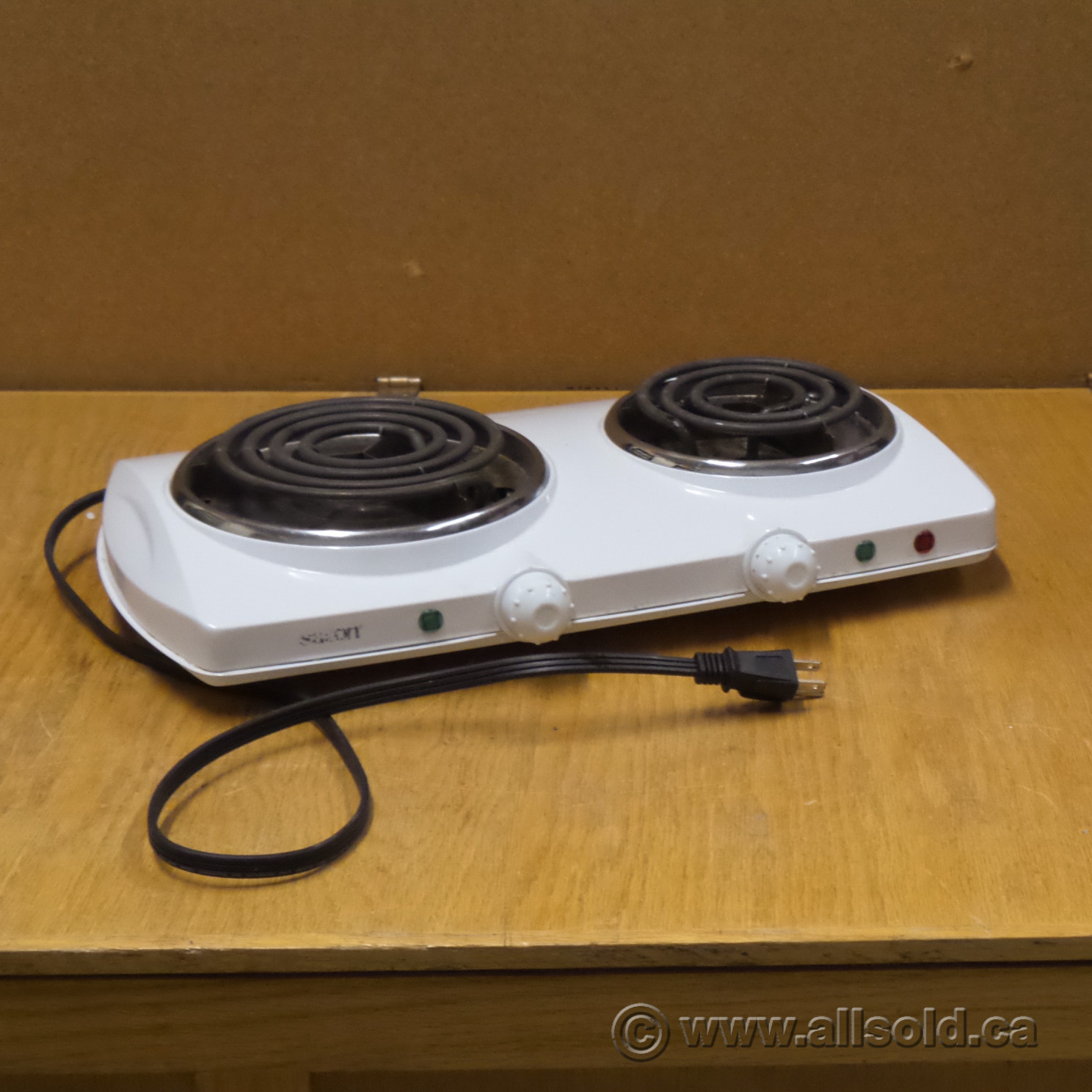 Salton White Double Burner Electric Hot Plate Allsold Ca Buy Sell Used Office Furniture Calgary