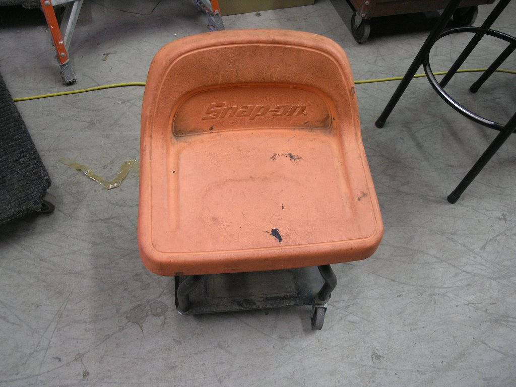 Orange Snap On Tools Mechanic S Chair On Wheels Allsold