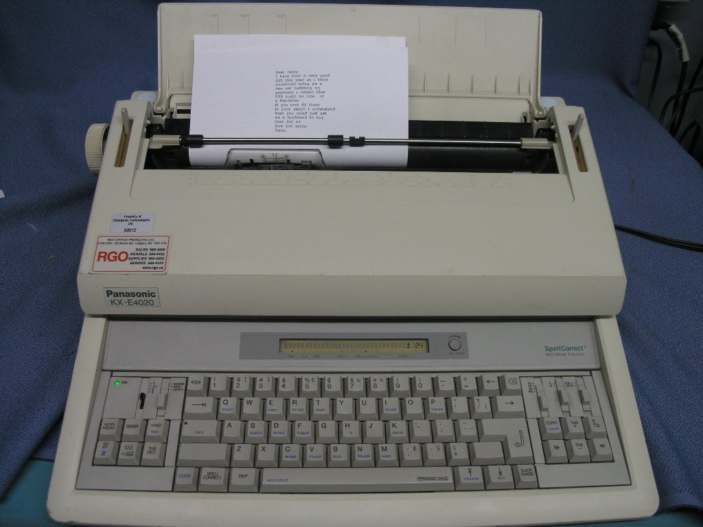 Panasonic Kx E4020 Typewriter With Spell Check Allsold