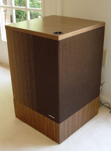 Pair Vintage Bose 501 Loud Speaker System W Deflector