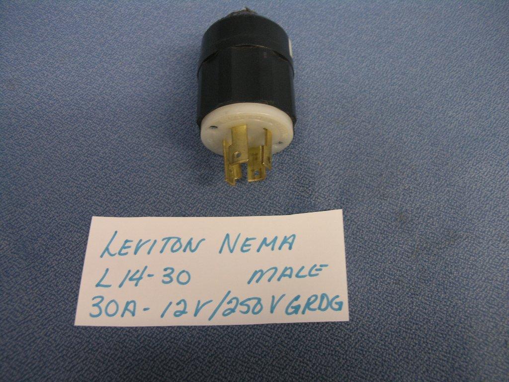 Leviton Nema L14 250v Grdg Turn  U0026 Pull Male 4p