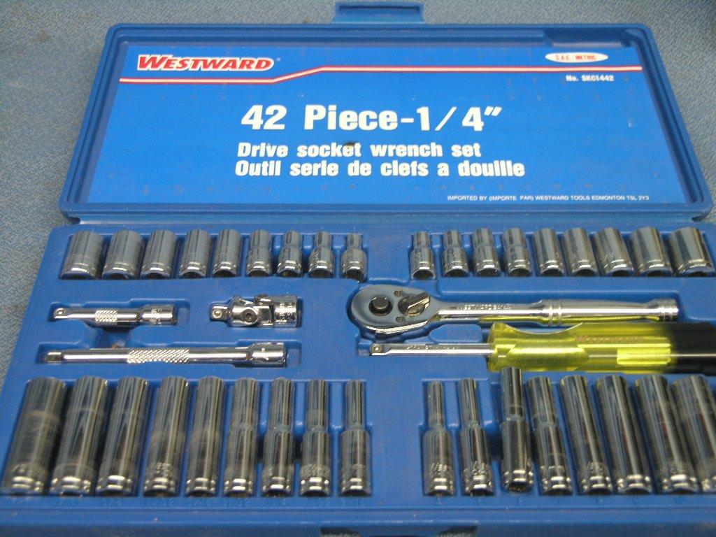 Westward 42 Piece 1 4 Quot Drive Socket Wrench Set Allsold