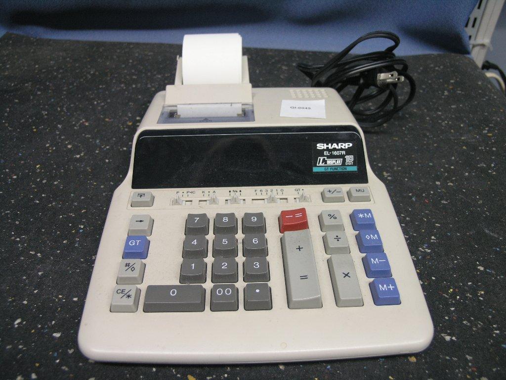 Sharp El 2670riii Printing Calculator Adding Machine