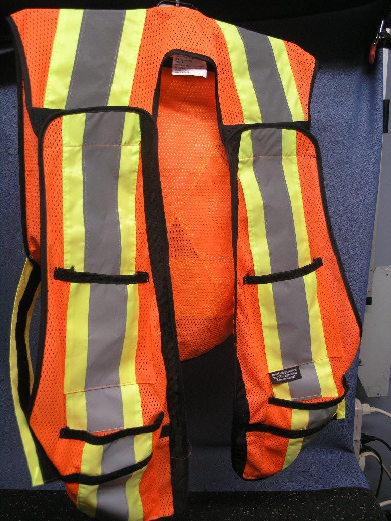 Excalibur E Tv1001 Orange Mesh Reflective Safety Vest W
