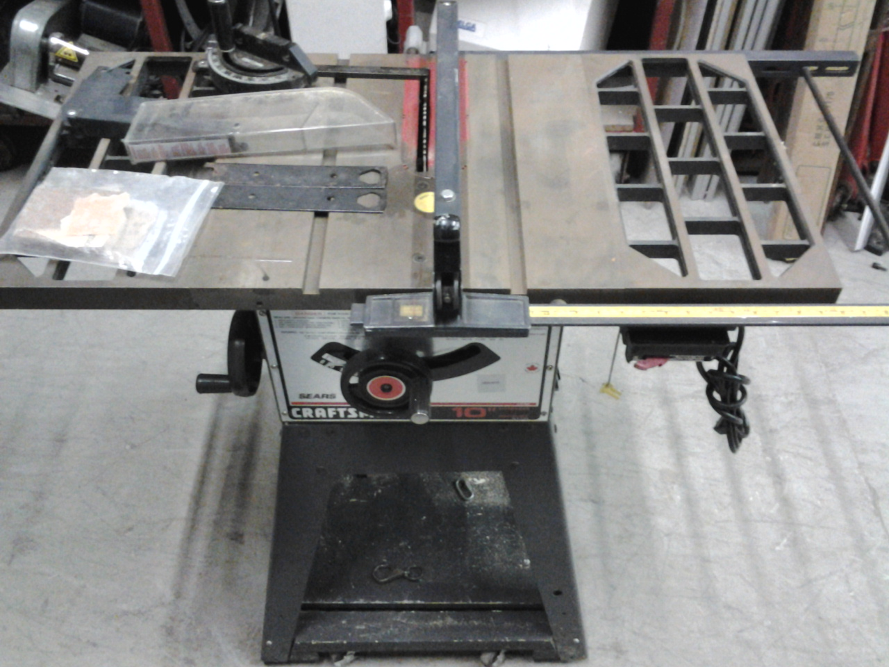 Sears craftsman 10 motorized table saw lr 42820 113 for Sears table saw motor