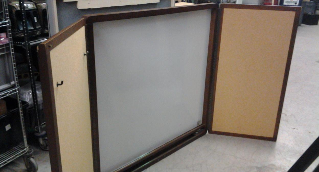 Wood Whiteboard Cabinet Egan W Swinging Door And Tack