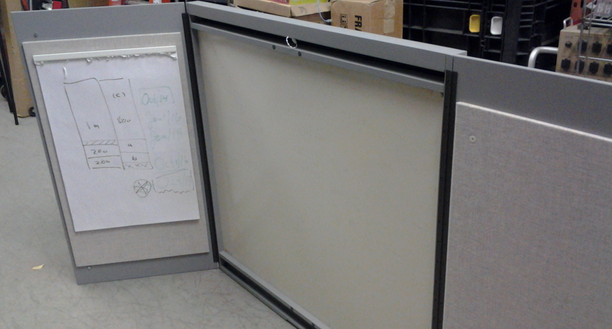 Used Medical Chart Filing Cabinets ~ Wood whiteboard cabinet w swinging door and flip chart