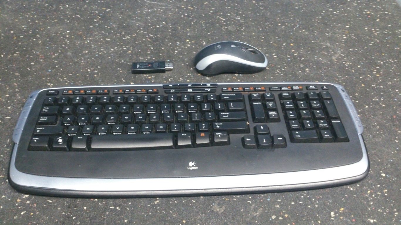 logitech wireless keyboard and mouse buy sell used office furniture calgary. Black Bedroom Furniture Sets. Home Design Ideas