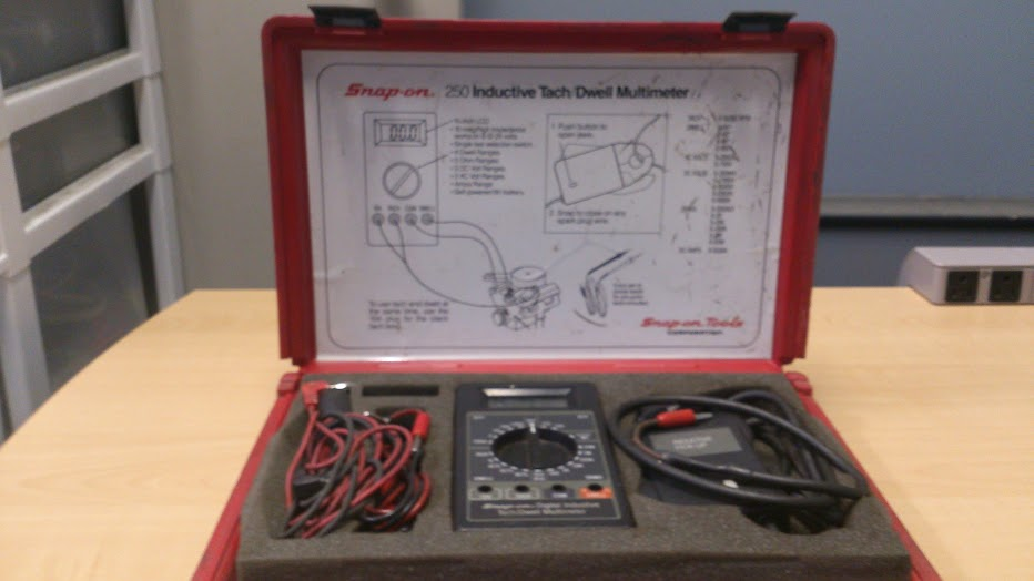 Snap On 250 Digital Inductive Tach Dwell Multimeter