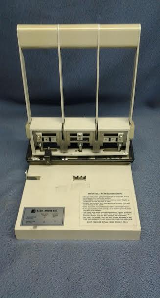 Acco Model 650 Heavy Duty 3 Amp 2 Hole Punch Allsold Ca