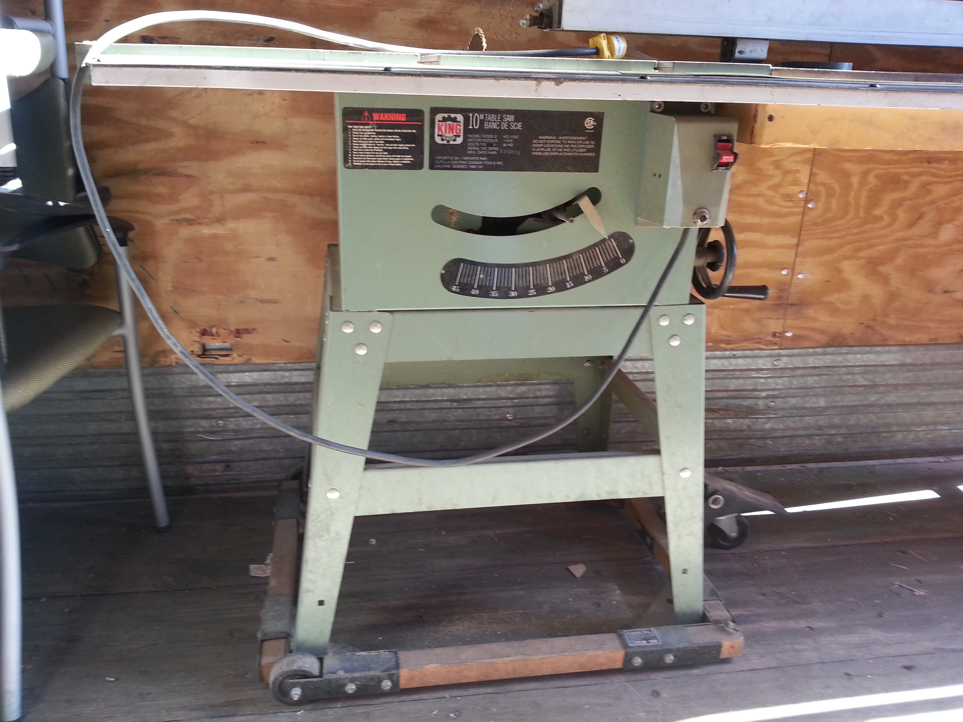 King 10 Inch 1 Hp Direct Drive Table Saw W Custom Fence Buy Sell Used Office