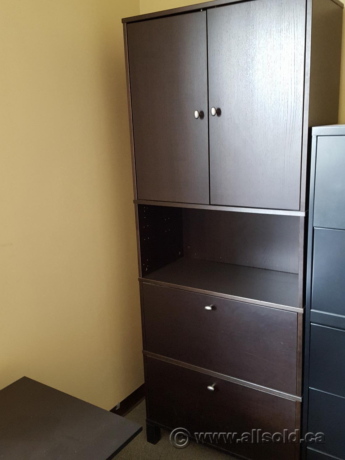 ikea effektiv espresso 2 drawer lateral file cabinet w storage buy sell used. Black Bedroom Furniture Sets. Home Design Ideas