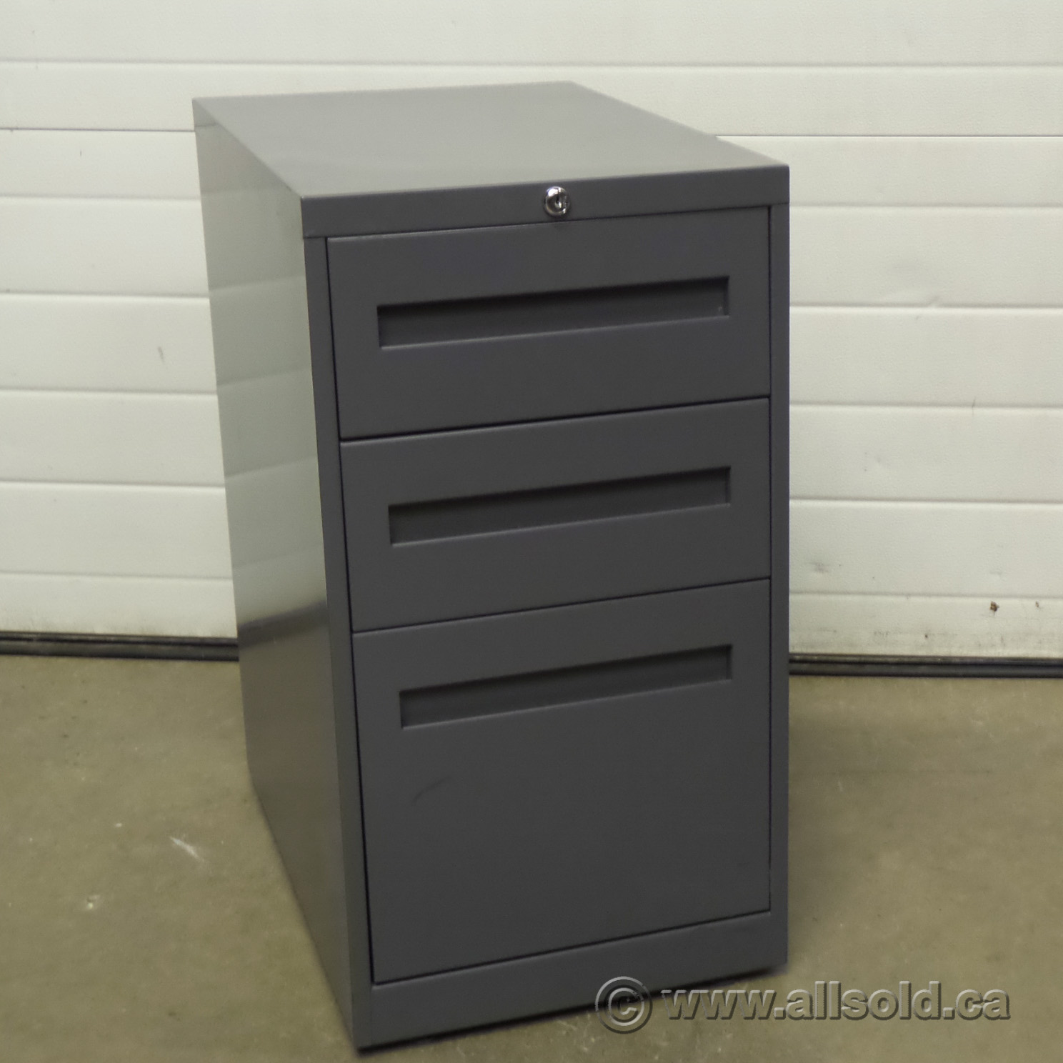 Used Kitchen Cabinets Calgary: Boulevard Grey 3 Drawer Pedestal Cabinet