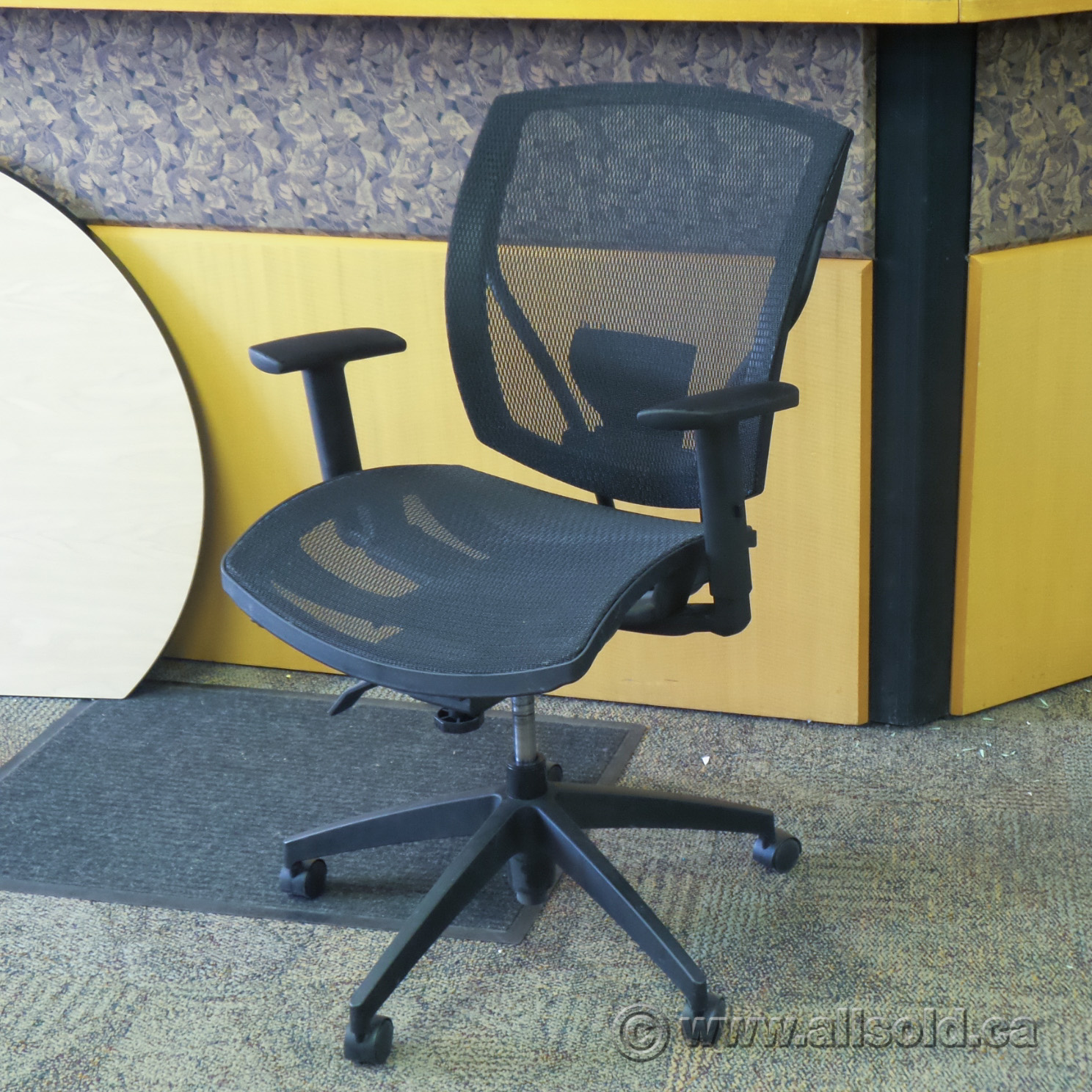 Air Conditioning Tools >> OTG Ibex Black All Mesh Ergonomic Adjustable Office Task Chair - Allsold.ca - Buy & Sell Used ...