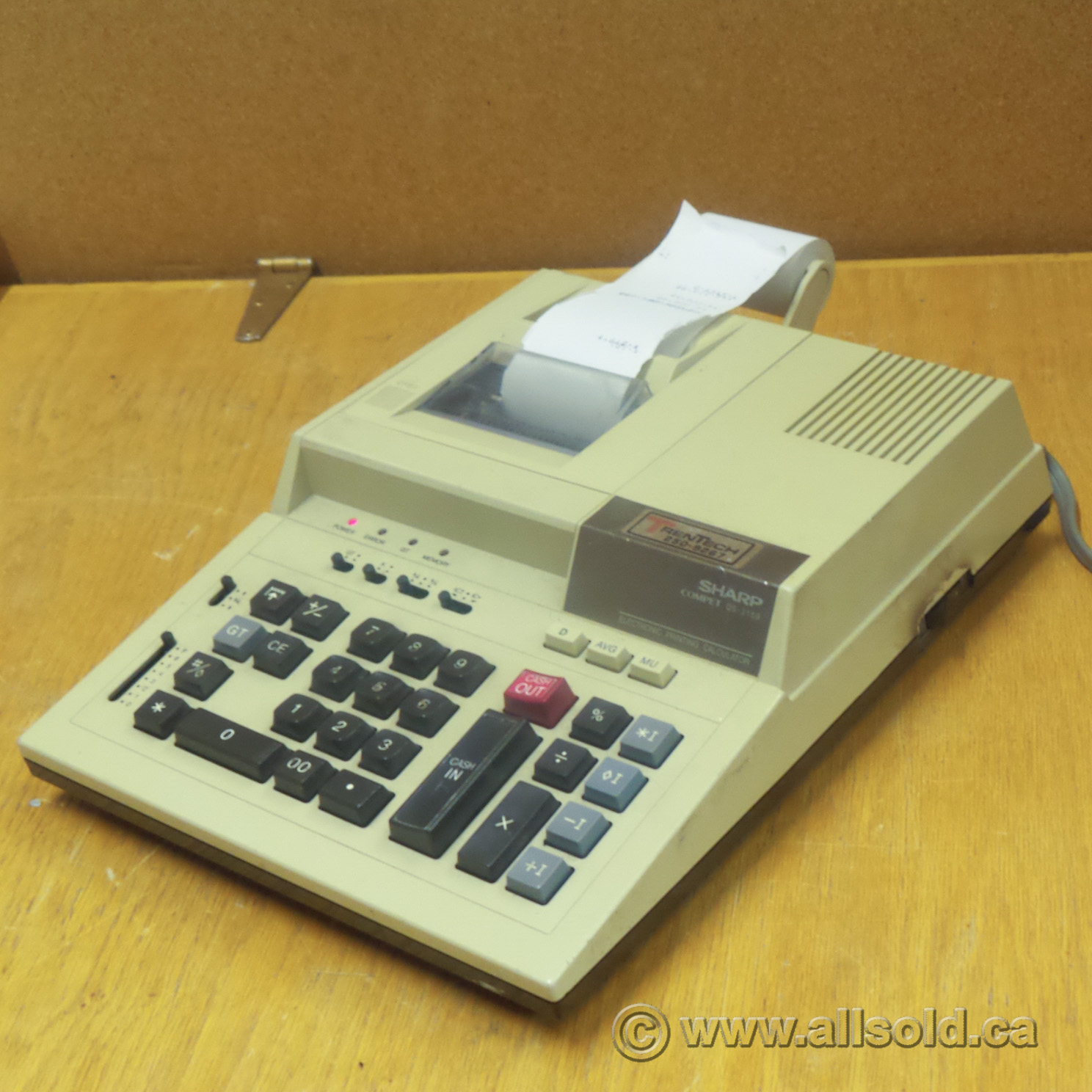 sharp compet qs 2159 adding machine calculator allsold sell used office furniture calgary used office furniture calgary se