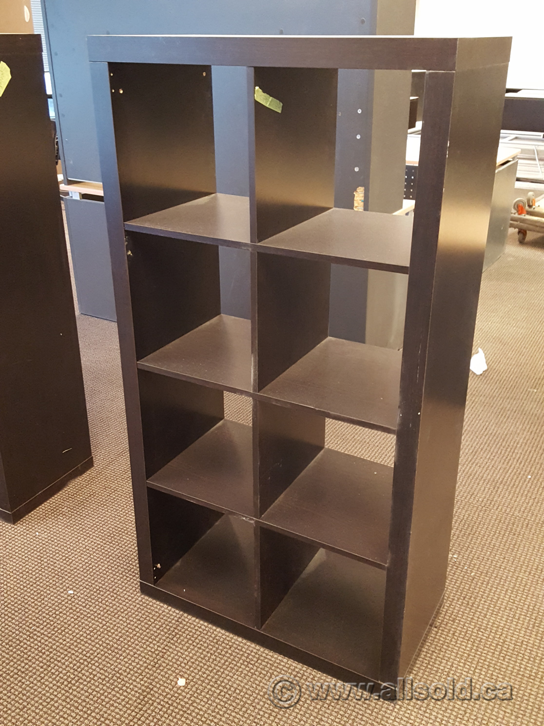 ikea kallax black 8 compartment bookcase shelf buy sell used office furniture. Black Bedroom Furniture Sets. Home Design Ideas