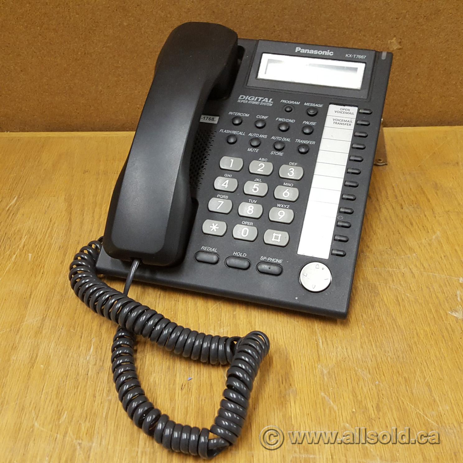Panasonic Kx T7667 Black Lcd Digital Speakerphone