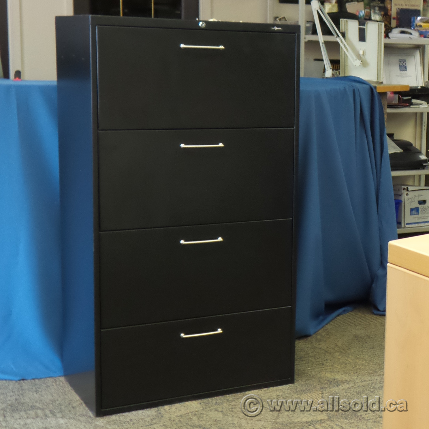 Prosource Black 4 Drawer Lateral File Cabinet 30 Quot With